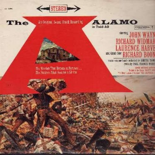 Alamo, The - The Alamo - Original Motion Picture Sound Track: Includes The Ballad Of The Alamo by Marty Robbins and The Green Leaves Of Summer by The Brothers Four. (vinyl STEREO LP record) - EX8/EX8 - LP Records