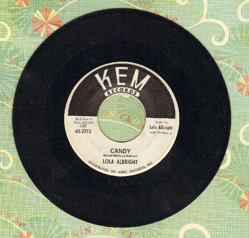 Albright, Lola - Candy/Here 'Tis - EX8/ - 45 rpm Records