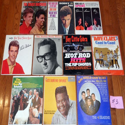 Original 1950s & 1960s LP Picture Covers - 10 Original LP picture covers SET 14-3 (exactly as pictured). NO records are included. GREAT for decorating a party room, or for a themed event. - VG6/EX8 - LP Records