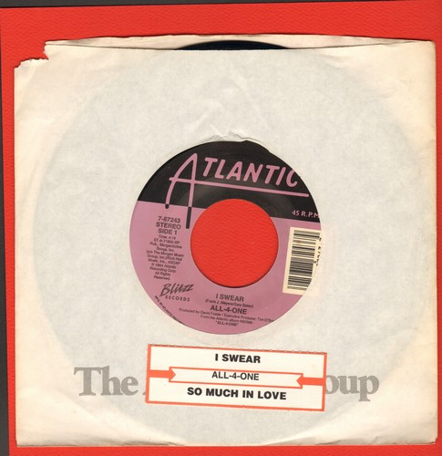 All-4-One - I Swear/So Much In Love (with juke box label) - NM9/ - 45 rpm Records