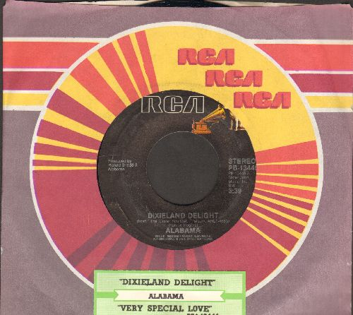 Alabama - Dixieland Delight/Very Special Love (with RCA company sleeve and juke box label) - EX8/ - 45 rpm Records