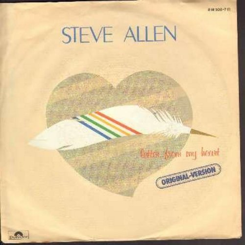 Allen, Steve - Letter From My Heart/Letter From My Heart (Instrumental) (German Pressing with picture sleeve) - NM9/EX8 - 45 rpm Records