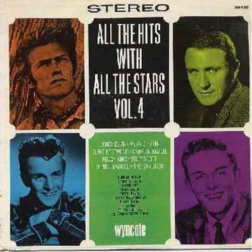 Eastwood, Clint, Jimmy Dean, Charlie Gracie, Skyliners, others - All The Hits With All The Stars Vol. 4: Sierra Nevada, Bumming Around, A Million Boys, The Town Of Never Worry, Dressin' Up, Streets Of Glory (vinyl STEREO LP record) - M10/EX8 - LP Records
