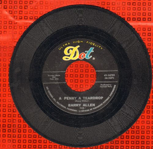 Allen, Barry - A Penny A Teardrop/Love Me Again - VG7/ - 45 rpm Records