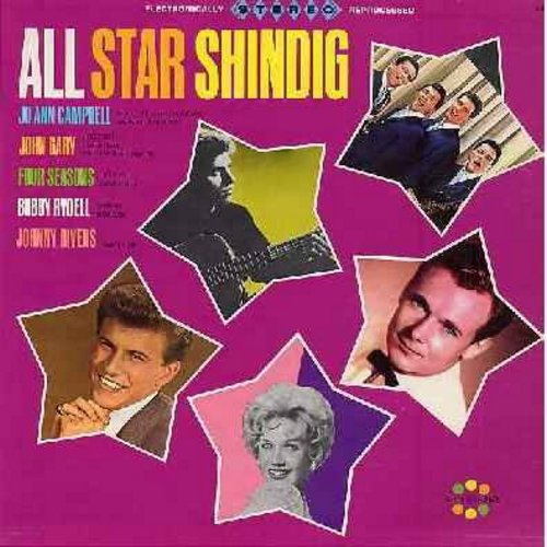 Four Seasons, Bobby Rydell, Jo Ann Campbell, John Gary, Johnny Rivers - All Star Shindig: This Is Real, Dream Age, Little People, You're The One, Give Me Five Minutes More (vinyl STEREO LP record, NICE condition!) - NM9/EX8 - LP Records
