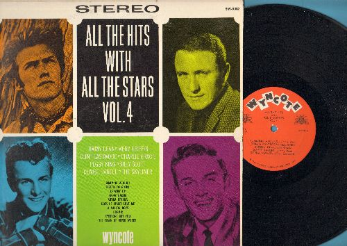 Dean, Jimmy, Clint Eastwood, Merv Griffin, Charlie Gracie, others - All The Hits With All The Stars: Bumming Around, Sierra Nevada, Dressin' Up, A Million Boys, Everyone But You (vinyl STEREO LP record) - NM9/EX8 - LP Records