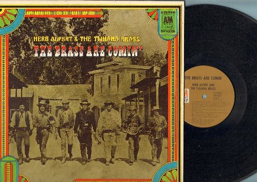Alpert, Herb & The Tijuana Brass - The Brass Are Comin': Sunny, Moon River, I'm An Old Cowhand, The Maltese Melody (vinyl STEREO LP record, gate-fold cover) - EX8/EX8 - LP Records