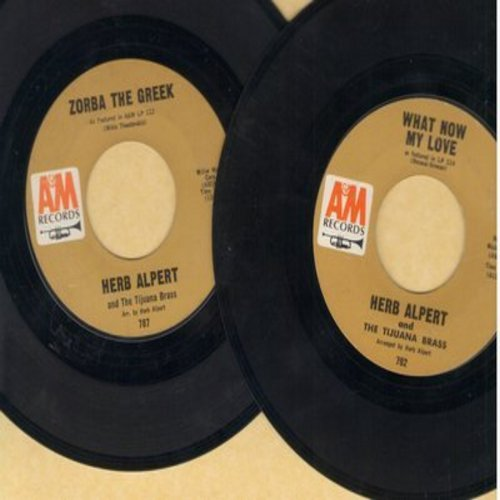 Alpert, Herb & The Tijuana Brass - 2 for 1 Special: Zorba The Greek/What Now My Love? (2 vintage first issue 45rpm records for the price of 1!) - EX8/ - 45 rpm Records