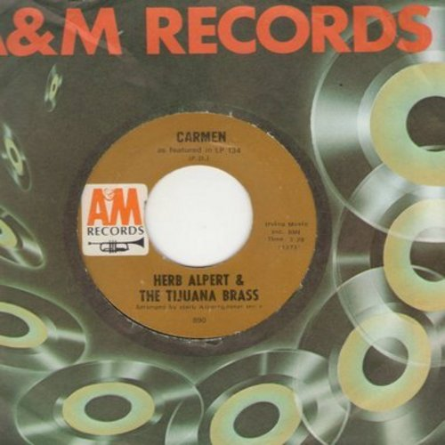 Alpert, Herb & The Tijuana Brass - Carmen/Love So Fine (with A&M company sleeve) - EX8/ - 45 rpm Records