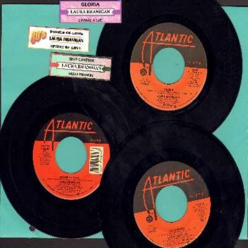 Branigan, Laura - Laura Branigan 3-Pack of original 45s.Hit titles include Power Of Love, Gloria and Self Control.  - VG7/NM9 - 45 rpm Records