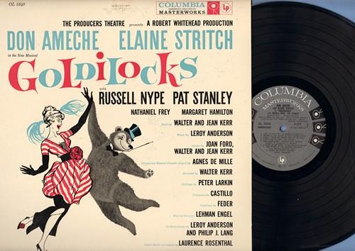 Ameche, Don, Elaine Stritch - Goldilocks - Original Cast Musical Production starring Don Ameche and Elaine Stritch (vinyl MONO LP record) - NM9/EX8 - LP Records