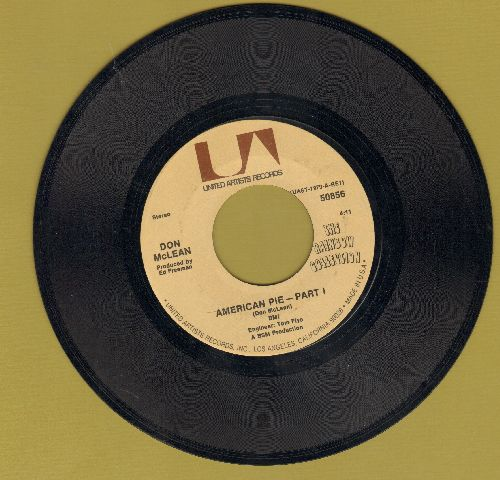 McLean, Don - American Pie (Bye Bye Miss American Pie) (Parts 1+2) (PARTY SING-ALONG FAVORITE! - with juke box label) - NM9/ - 45 rpm Records