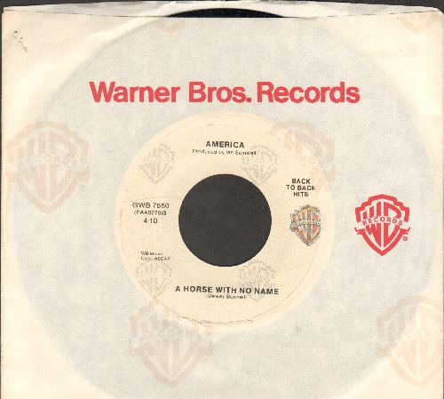 America - A Horse With No Name (ROCK CLASSIC!)/I Need You (double-hit re-issue with Warner Brothers company sleeve) - NM9/ - 45 rpm Records