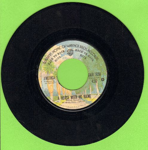 America - A Horse With No Name (ROCK CLASSIC!)/I Need You (double-hit re-issue) - EX8/ - 45 rpm Records