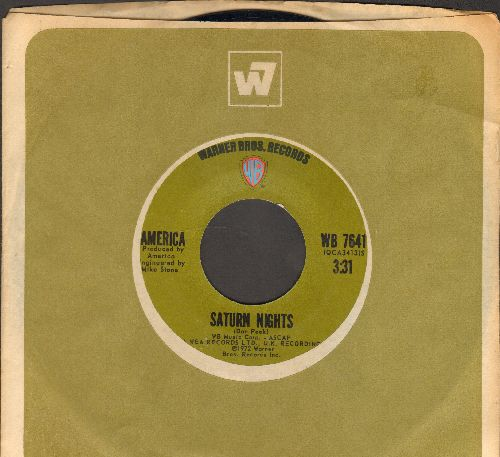 America - Ventura Highway/Saturn Nights (with Warner Brothers company sleeve) - EX8/ - 45 rpm Records