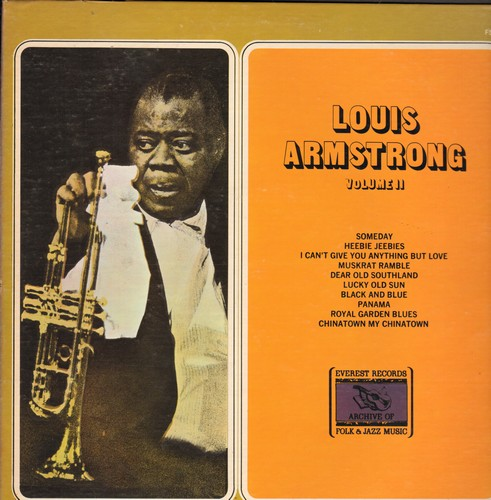Armstrong, Louis - Louis Armstrong Volume II: Someday, Heebie Jerebies, Lucky Old Sun, Black And Blue (vinyl LP record) - NM9/NM9 - LP Records