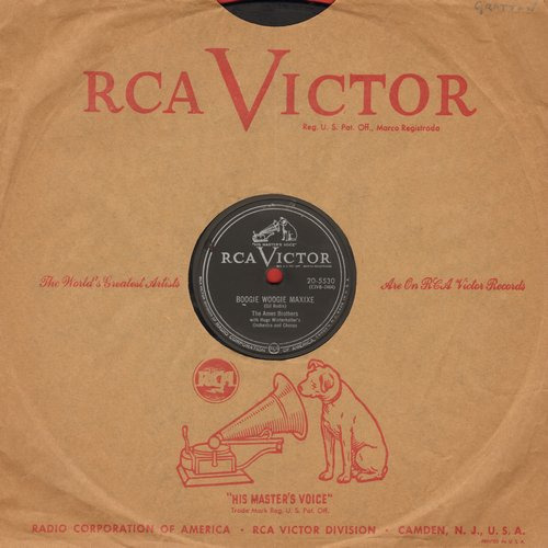 Ames Brothers - Boogie Woogie Maxixe/I Can't Believe That You're In Love With Me (10 inch 78rpm record with RCA company sleeve) - EX8/ - 45 rpm Records