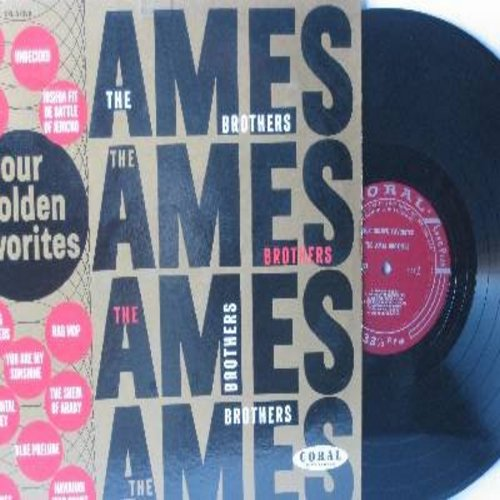 Ames Brothers - Our Golden Favorites: You Are My Sunshine, Undecided, Sentimental Journey, The Sheik Of Araby, Tumbling Tumbleweeds, Rag Mop 9vinyl MONO LP record, burgundy label early 50s label, NICE condition!) - NM9/NM9 - LP Records