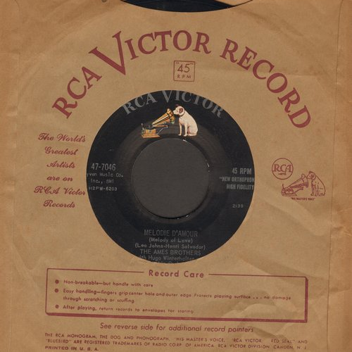 Ames Brothers - Melody D'Amour/So Little Time - EX8/ - 45 rpm Records