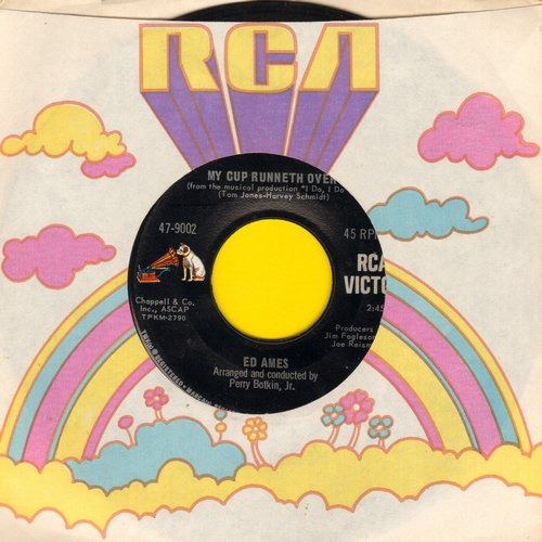 Ames, Ed - My Cup Runneth Over (From Broadway Production -I Do, I Do-)/It Seems A Long Long Time (with RCA company sleeve) - NM9/ - 45 rpm Records