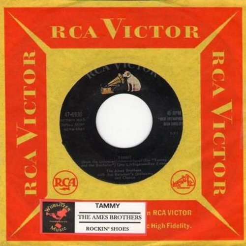 Ames Brothers - Rockin' Shoes/Tammy (with RCA company sleeve and juke box label) - EX8/ - 45 rpm Records