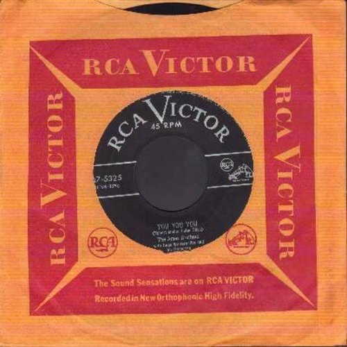 Ames Brothers - You You You/Once Upon A Tune (with vintage RCA company sleeve) - EX8/ - 45 rpm Records