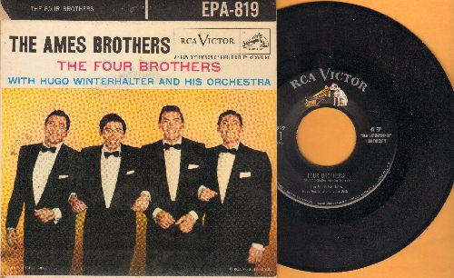 Ames Brothers - The Four Brothers - vinyl EP record with picture cover. - EX8/VG7 - 45 rpm Records