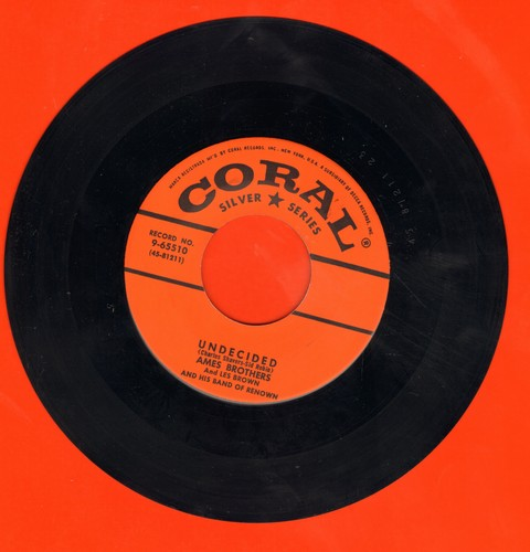 Ames Brothers - Undecided/Sentimental Journey (early re-issue) - M10/ - 45 rpm Records