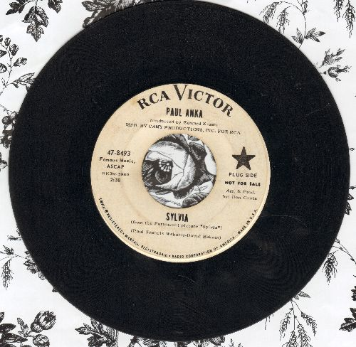 Anka, Paul - Sylvia (Be Mine)/Behind My Smile (DJ advance copy) - VG7/ - 45 rpm Records