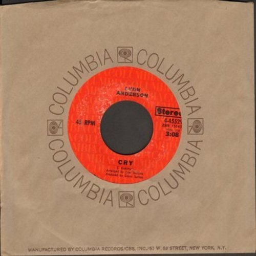 Anderson, Lynn - Cry/Simple Words (with Columbia company sleeve) - NM9/ - 45 rpm Records
