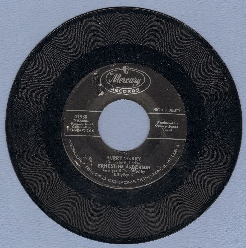 Anderson, Ernestine - Hurry, Hurry/After The Lights Go Down Low (bb) - NM9/ - 45 rpm Records