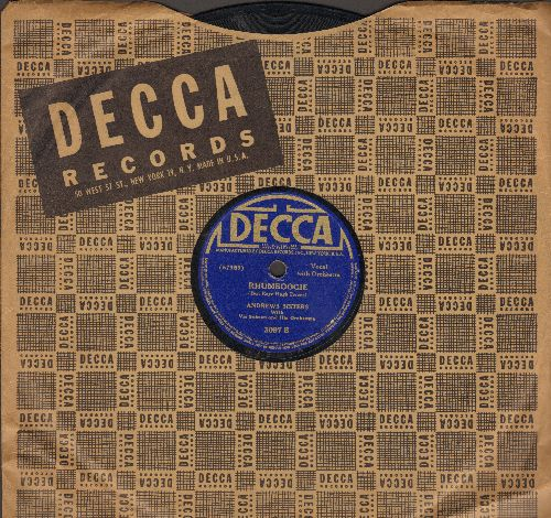 Andrews Sisters - Rhumboogie/Tuxedo Junction (10 inch 78 rpm record with Decca company sleeve) - VG7/ - 78 rpm