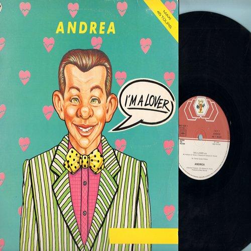 Andrea - I'm A Lover (6:06 minutes Vocal Disco Version)/I'm A Lover (4:09 minutes Instrumental Version) (12 inch 45rpm Maxi Single, French Pressing) - NM9/EX8 - Maxi Singles