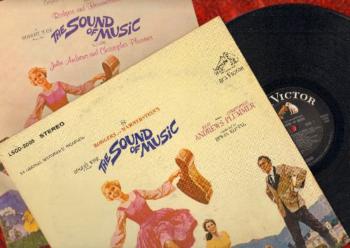 Andrews, Julie - The Sound Of Music:  Original Motion Picture Sound Track (vinyl STEREO LP record with BONUS full-color illustrated story book/playbill)  - Sixteen Going On Seventeen, Climb Every Mountain, Do-Re-Mi, Edelweiss, Maria, My Favorite Things -