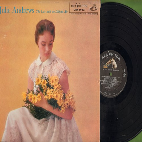 Andrews, Julie - The Lass With The Delicate Air: As I Went A-Roaming, Pedro The Fisherman, Tally-Ho!, Canterbury Fair (vinyl MONO LP record) - NM9/EX8 - LP Records