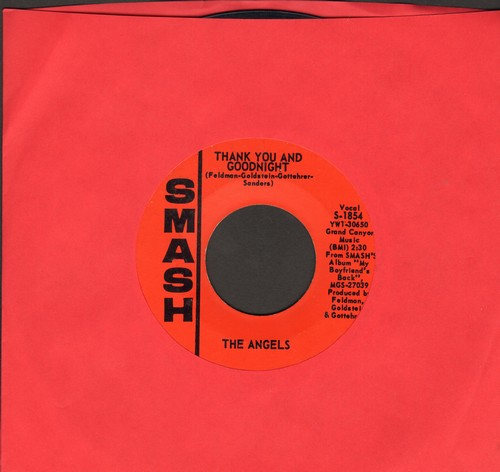 Angels - Thank You And Good Night/I Adore Him  - EX8/ - 45 rpm Records