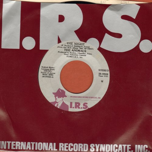 Animals - The Night/No John No (with I.R.S. company sleeve) - M10/ - 45 rpm Records