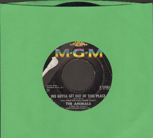 Animals - We Gotta Get Out Of This Place/I Can't Believe It  - VG6/ - 45 rpm Records