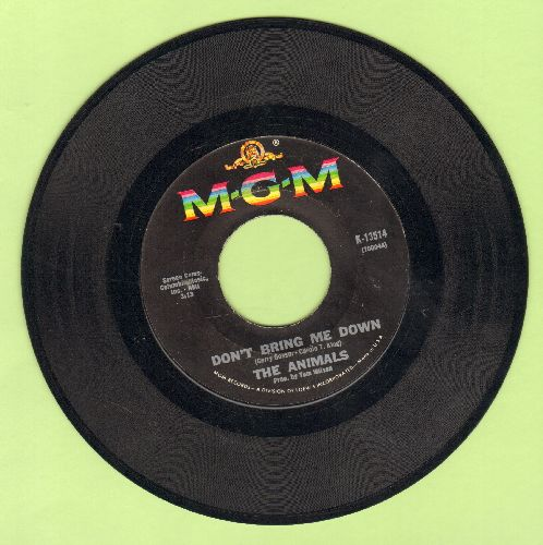 Animals - Don't Bring Me Down/Cheating  - VG7/ - 45 rpm Records