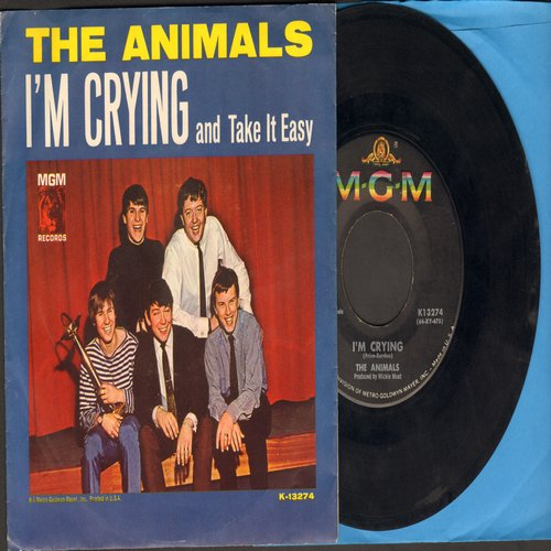 Animals - I'm Crying/Take It Easy Baby (with picture sleeve)(minor wol) - EX8/VG6 - 45 rpm Records