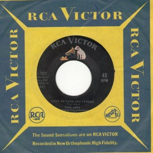 Anka, Paul - Love Me Warm And Tender/I'd Like To Know (with RCA company) - EX8/ - 45 rpm Records