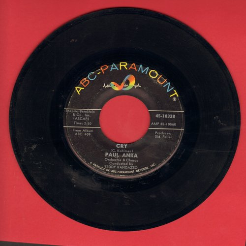 Anka, Paul - Cry/I'm Coming Home - VG7/ - 45 rpm Records