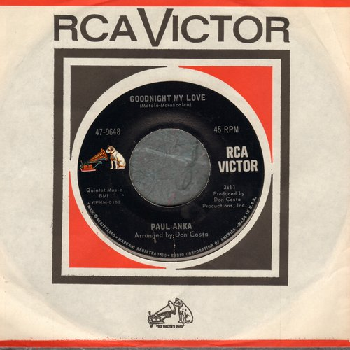 Anka, Paul - Goodnight My Love/This Crazy World (early pressing with RCA company sleeve) - NM9/ - 45 rpm Records