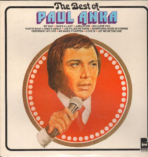Anka, Paul - The Best Of: My Way, She's A Lady, Do I Love You, Love Is, Let Me Be The One (vinyl STEREO LP record, SEALED, never opened!) - SEALED/SEALED - LP Records