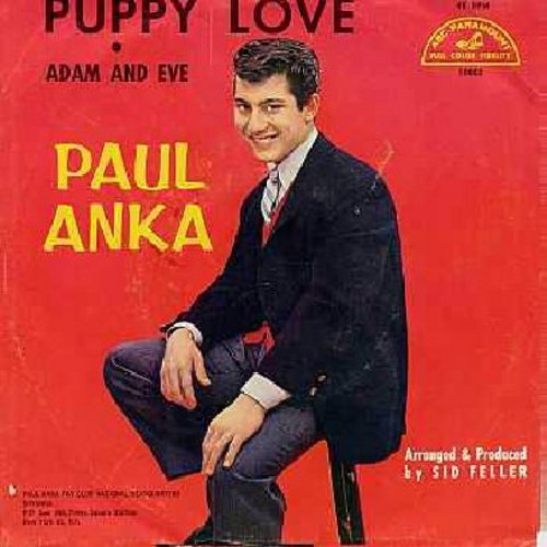 Anka, Paul - Puppy Love/Adam And Eve (with picture sleeve) - EX8/G5 - 45 rpm Records