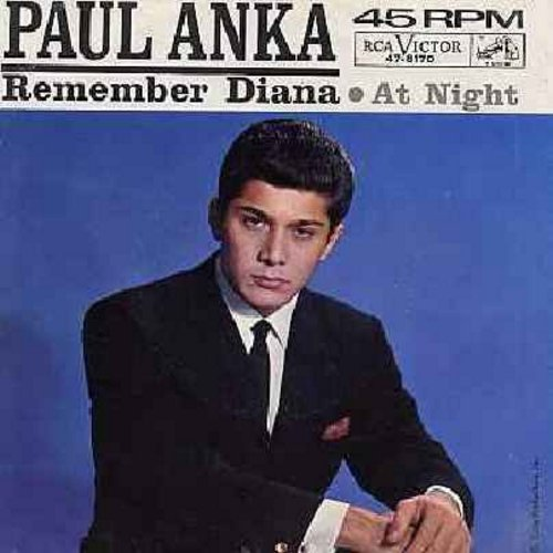 Anka, Paul - Remember Diana/At Night (with picture sleeve sleeve) - EX8/VG7 - 45 rpm Records