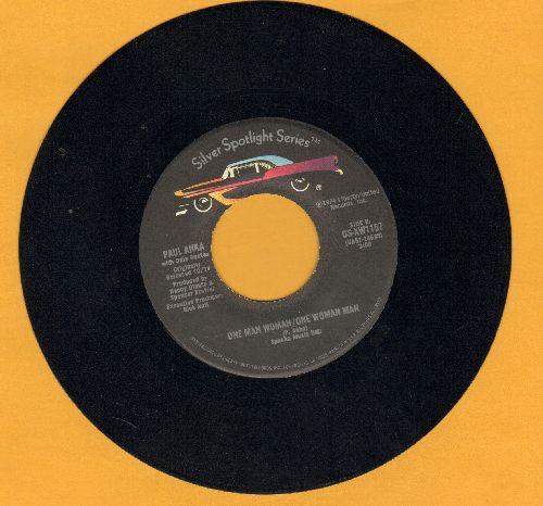 Anka, Paul - One Man Woman - One Woman Man/(You're) Having My Baby (double-hit re-issue) - NM9/ - 45 rpm Records