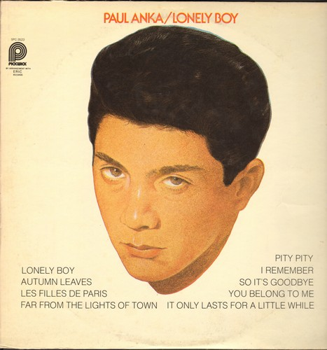 Anka, Paul - Lonely Boy: Autumn Leaves, You Belong To Me, I Remember (vinyl LP record, re-issue of vintage recordings) - NM9/VG7 - LP Records