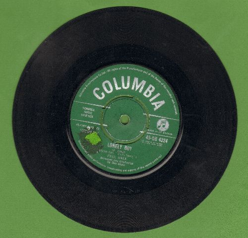 Anka, Paul - Lonely Boy/Your Love (British Pressing with removable spindle adaptor) - VG7/ - 45 rpm Records