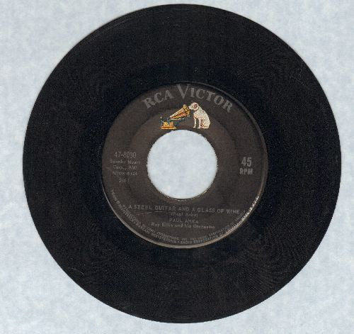 Anka, Paul - A Steel Guitar And A Glass Of Wine/I Never Knew Your Name  - VG7/ - 45 rpm Records